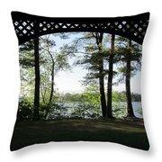 Wilson Pond Framed Throw Pillow