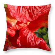 Wilting Hibiscus Two Throw Pillow