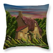Wiltshire At Sunset Throw Pillow