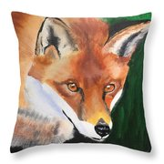 Wily Fox Throw Pillow