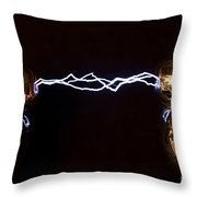 Wimshurst Machine Throw Pillow
