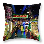 Win Prizes....maybe...maybe Not Throw Pillow