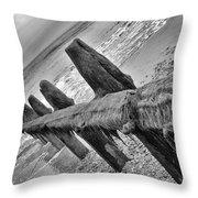 Winchelsea Beach Sussex Throw Pillow