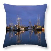 Winchester Bay Reflections Throw Pillow