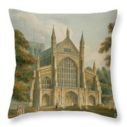 Winchester Cathedral Throw Pillow by John Buckler