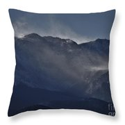 Wind And Snow Throw Pillow