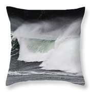 Wind And Waves In Oregon Throw Pillow