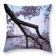 Wind Blossoms Throw Pillow