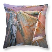 Wind Blown Sand Texture Throw Pillow