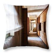 Wind Blows Past Times Away - Urbex Throw Pillow
