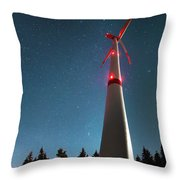 Wind Energy Plant Throw Pillow