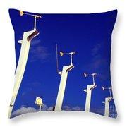 Wind Energy Turbines Throw Pillow
