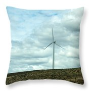 Wind Farm Throw Pillow