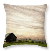 Wind Farm Throw Pillow by Matt Molloy