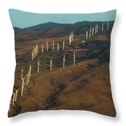 Wind Generators-signed-#0037 Throw Pillow