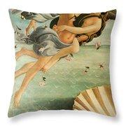 Wind God Zephyr Throw Pillow