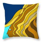Wind Goddess Throw Pillow