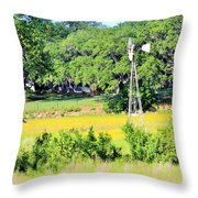 wind mill N weeds Throw Pillow