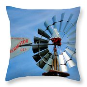 Wind Mill Pump In Usa 2 Throw Pillow