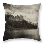 Wind River Lake Throw Pillow