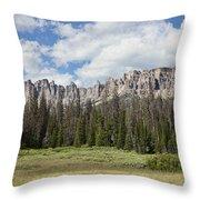 Wind River Mountains Throw Pillow