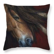 Wind River Throw Pillow by Pat Erickson
