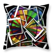 Wind Spinner Collage Throw Pillow