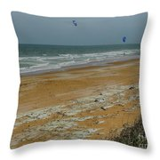 Wind Surfing In Flagler Throw Pillow