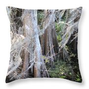 Wind Through The Cypress Trees Throw Pillow