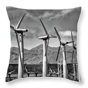 Wind Turbines Palm Springs Throw Pillow