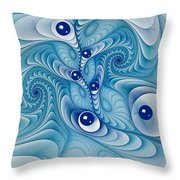 Wind Up Marble Works  Throw Pillow