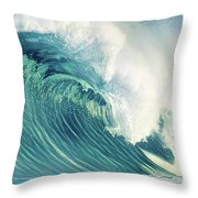 Wind Waves Throw Pillow