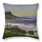 Windansea Texture Throw Pillow