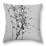 Windblown In The Snow Throw Pillow