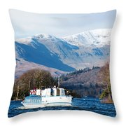 Windermere Cruise Throw Pillow