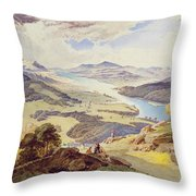 Windermere From Ormot Head Throw Pillow