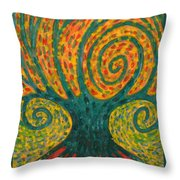 Winding I Throw Pillow