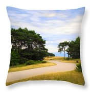 Winding Road Into The Unknown Throw Pillow