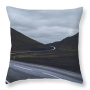 Winding Roads Throw Pillow