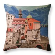 Winding Roads Of Italy Throw Pillow