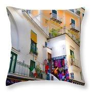 Winding Through Amalfi Throw Pillow