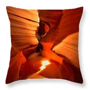 Winding Through Antelope Canyon Throw Pillow