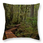 Winding Through The Willowbrae Rainforest Throw Pillow
