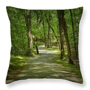 Winding Trails At Bur Mil Park  Throw Pillow