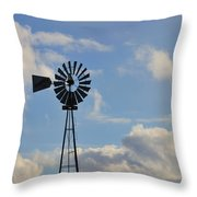 Windmill And Sky Throw Pillow