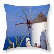 Windmill Art Throw Pillow