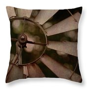 Windmill At Dusk Throw Pillow