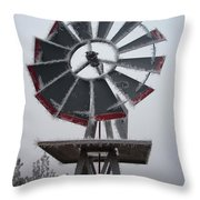 Windmill Frost Throw Pillow