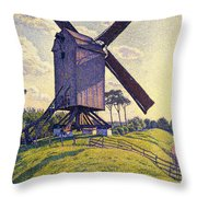 Windmill In Flanders Throw Pillow