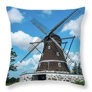 Windmill In Fleninge,sweden Throw Pillow